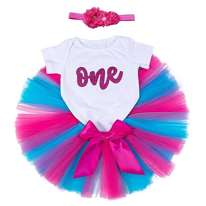 cb59e7ce7ff5a Colorful Bowknot Tutu Skirt IWEMEK Baby Girls 1st Birthday Cake Smash Photo  Shoot 3pcs Outfits Newborn ...