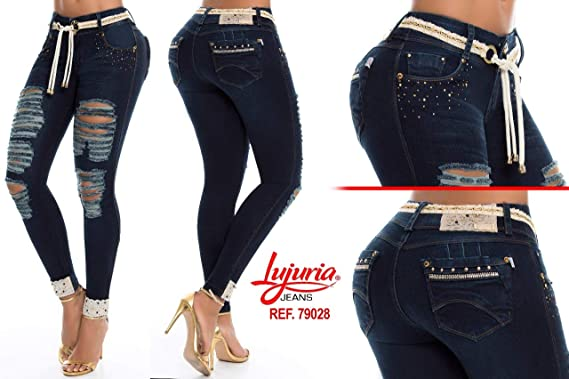 Amazon Com Fabricado En Colombia Lujuria Jeans 100 Colombianos Push Up Jeans Ref 79028 Clothing