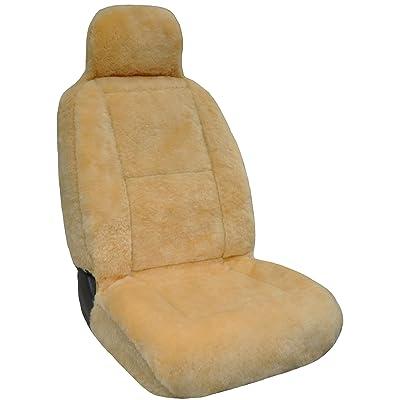 Eurow Luxury Sheepskin Seat Cover XL Design Comfortable Premium Pelt - Champagne: Automotive