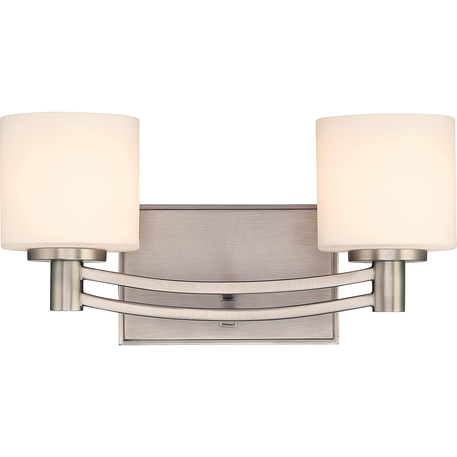 Quoizel PY8602AN Perry 2-Light Bath Fixture, Antique Nickel
