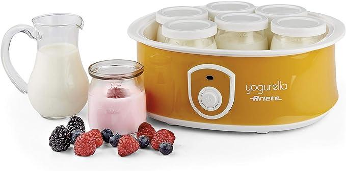 Ariete 626 626-Yogurtera, capacidad de 1 litro, 6 tarros, luz ...