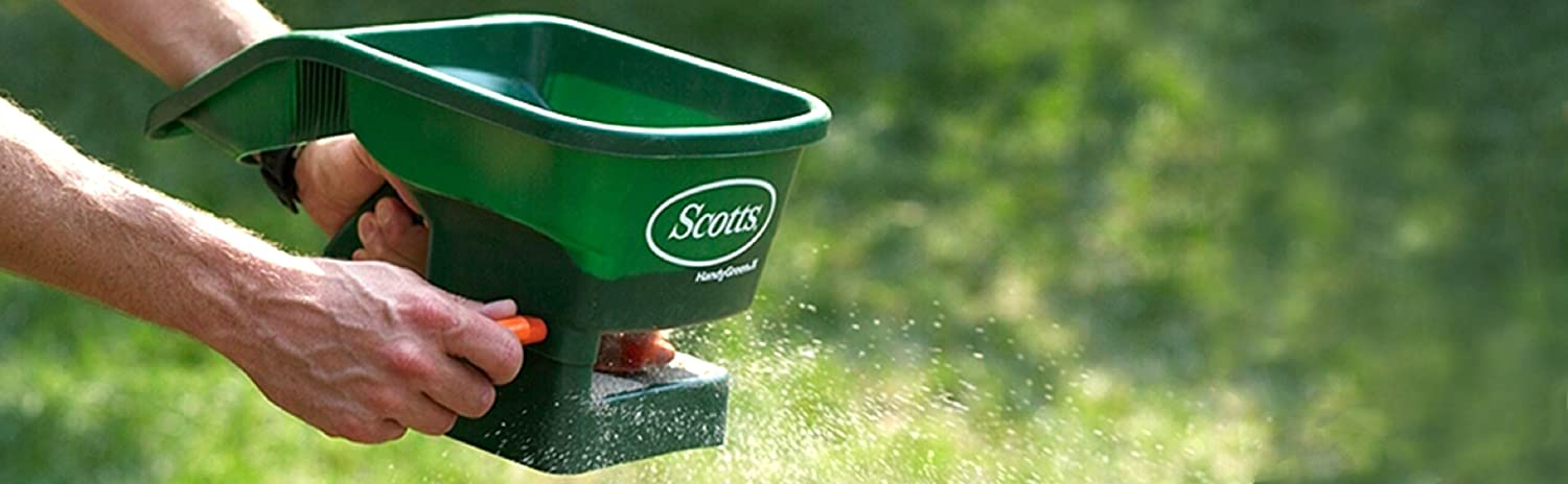 Scotts Handy Green II Hand-Held Broadcast Spreader ScotchBlue 71133