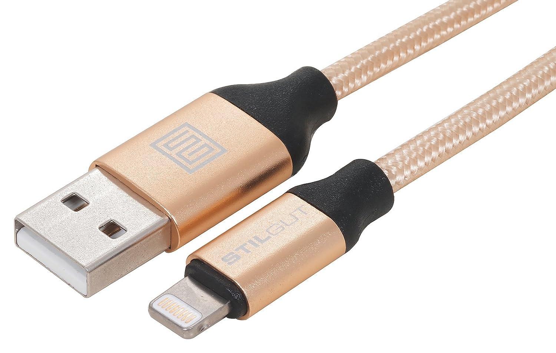 StilGut câble Premium Compatible et adapté au Chargement et à la synchronisation des données de Produits Apple sur USB, 2 m, Gris