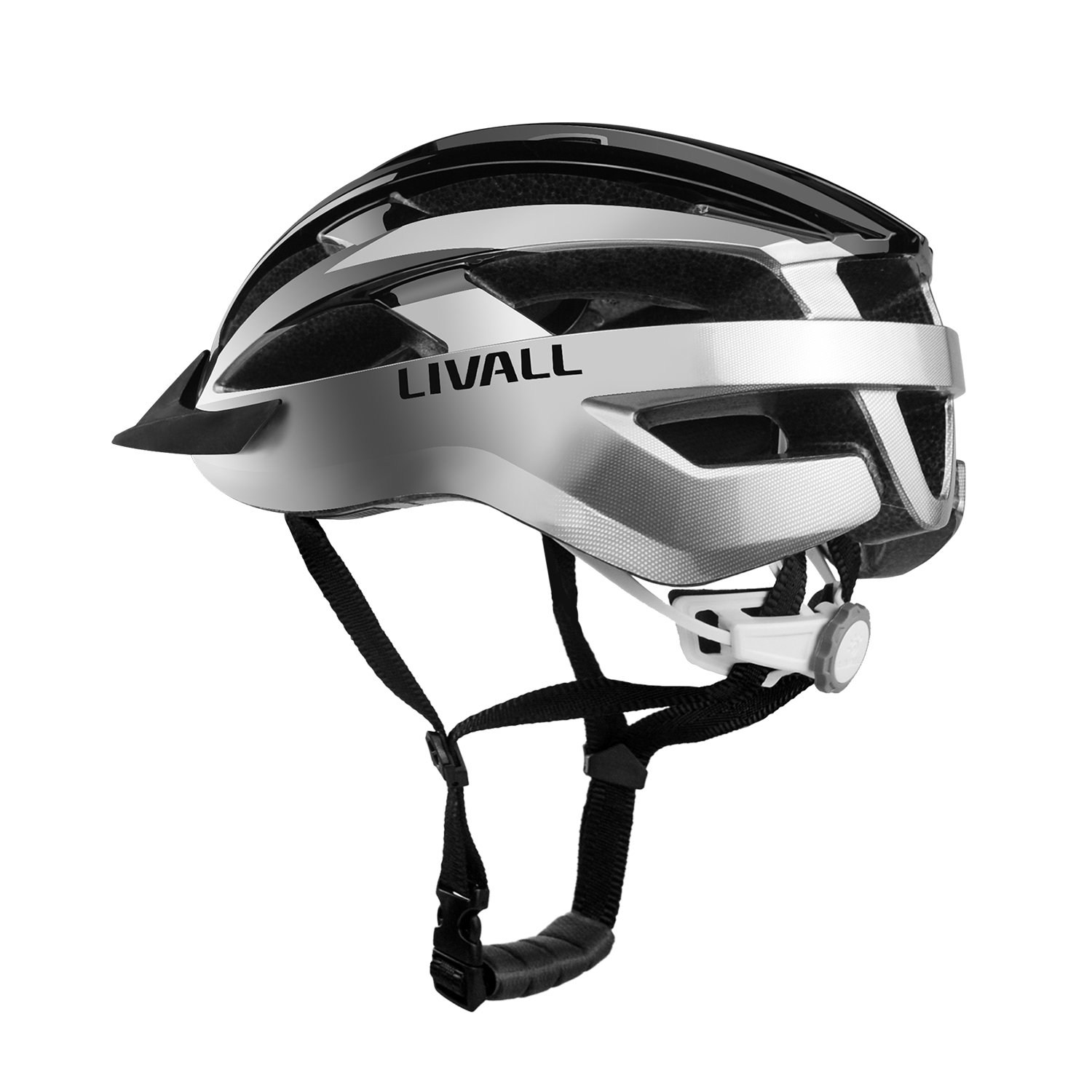Livall MT1 Smart Bike Helmet,Wireless Turn Signals Remote Tail Lights,Blautooth Speakers,Build-in mic,Music&Call,Walkie-Talkie, SOS Alert, CPSC&EN1078 Certified Cycling Mountain Blautooth Helmet ¡­