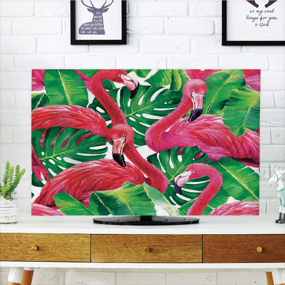 Cubierta de polvo para televisor LCD, flamingo, modelo de pájaro ...