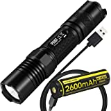Nitecore P10GT 900 Lumens Tactical LED Flashlight with USB Rechargeable NL1826R 18650 Battery