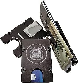 product image for HMC Billet United States Coast Guard RFID Protection Credit Card Holder Aluminum Wallet, Black