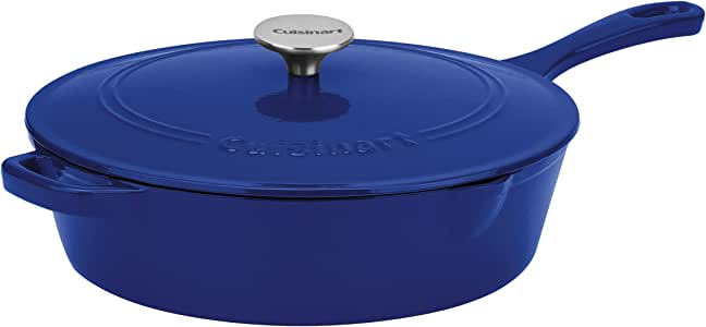 "Cuisinart Cast Iron, Cobalt, 12"", Chicken Fryer"
