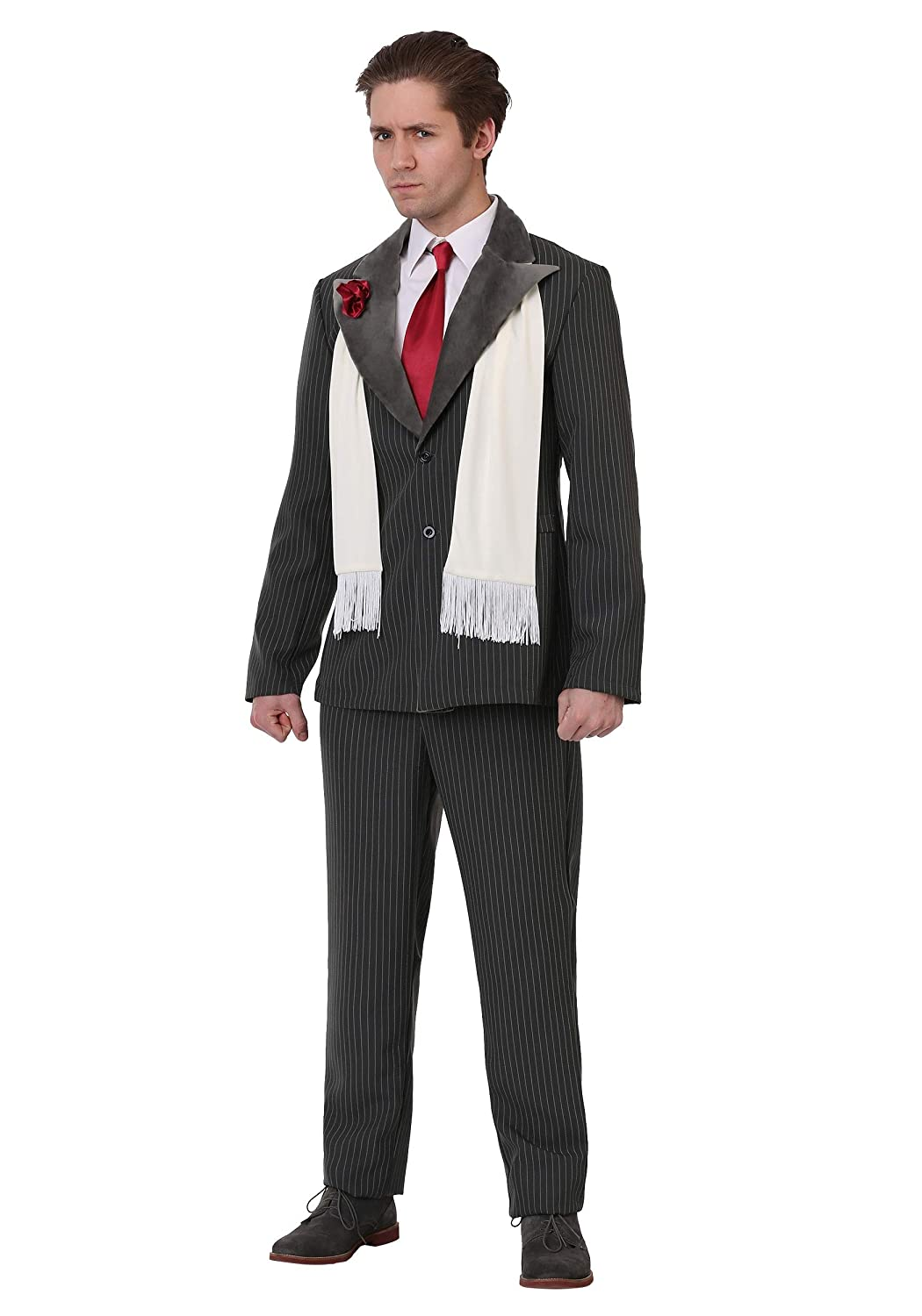 1940s Men's Costumes: WW2, Sailor, Zoot Suits, Gangsters, Detective Mens Vicious Gangster Costume $19.99 AT vintagedancer.com