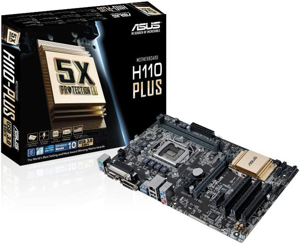 Asus H110 Plus Motherboard Socket 1151 Computers Accessories