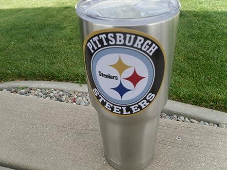 Custom Steelers Yeti Rtic Tumbler Decal Sticker Fast
