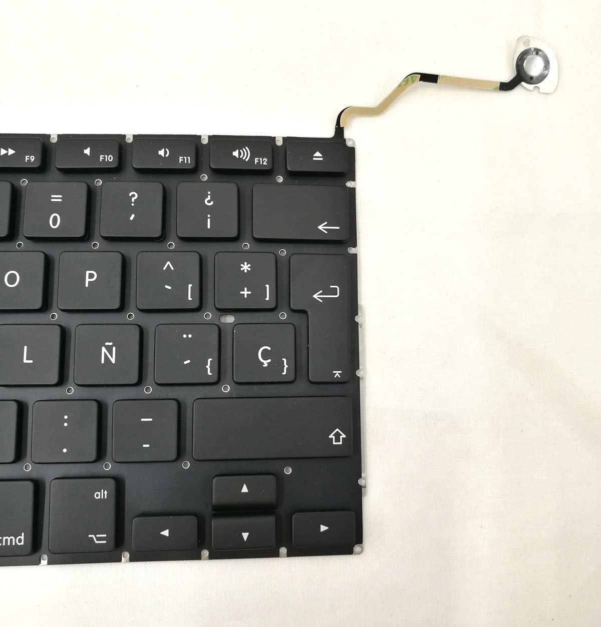 Ittecc Spanish Teclado Keyboard ESPA/ÑOL Replacment Fit for MacBook Pro Unibody 17 A1297 Year of 2009 2010 2011 2012