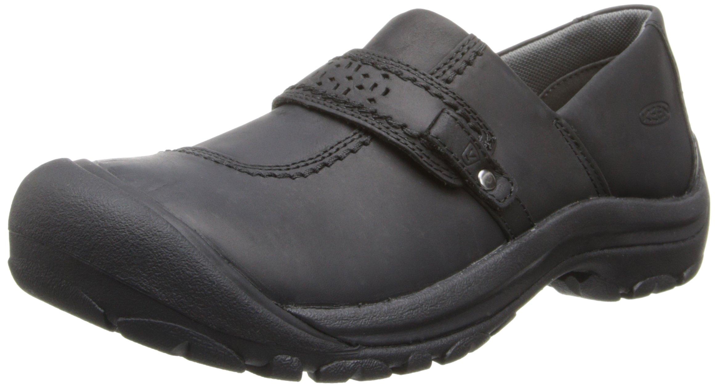 KEEN Women's Kaci Full Grain Slip-On Shoe,Black,10 M US