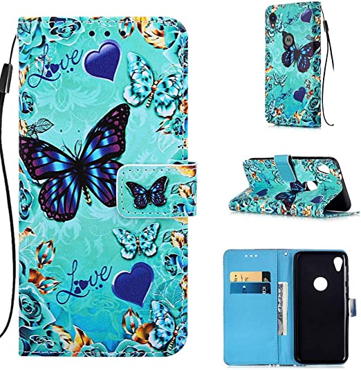 for Motorola Moto E6 5.5 Inch 2019 . Cats and Tigers Magnetic Closure Compatible for Motorola Moto E6 Case Kickstand Flip Nice Practical Wallet Protective Case with Credit Card Slot and