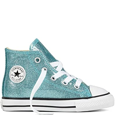 8835535e697e Converse CTAS HI Toddlers  Shoes Bleached Aqua Natural White 760048c (3 M