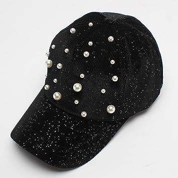 Perla decorada gorra de béisbol pana 2018 otoño nueva serie coreana  estrella sombrero al por mayor e22a63868fa