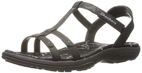 0afd6c535c0 Skechers Women s Reggae Slim-Birdcage Flat Sandal  Amazon.co.uk ...