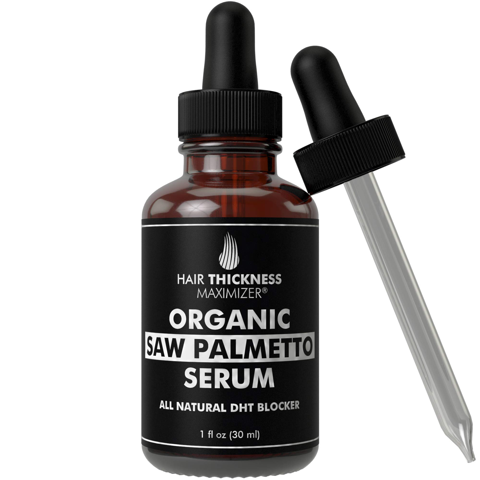 Organic Saw Palmetto Oil Serum. Stop Hair Loss Now by Hair Thickness Maximizer. Best Treatment for Hair Thinning. Hair Thickening Oils with Organic Pumpkin Seed Oil, Moringa Oil, Baobab Liquid (1 oz) by Hair Thickness Maximizer