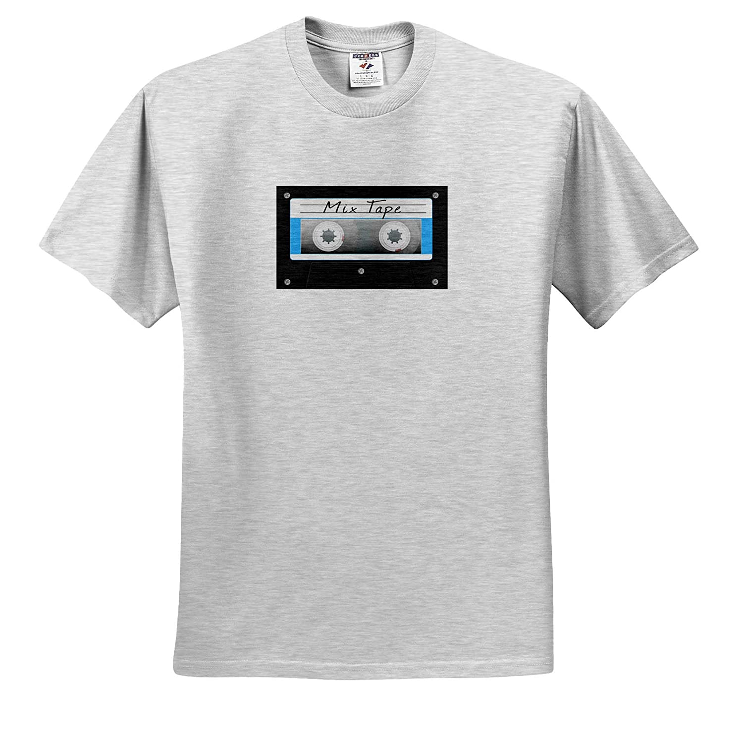 Retro Cassette Tape Mix Tape for Anyone who Loves 80s Music 3dRose Macdonald Creative Studios - T-Shirts Music