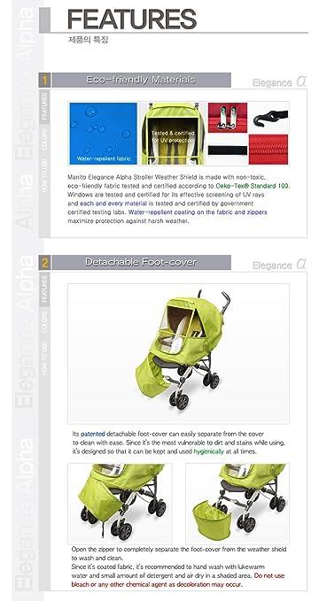 Amazon.com: Manito Elegance Alpha carriola Weather Shield/de ...