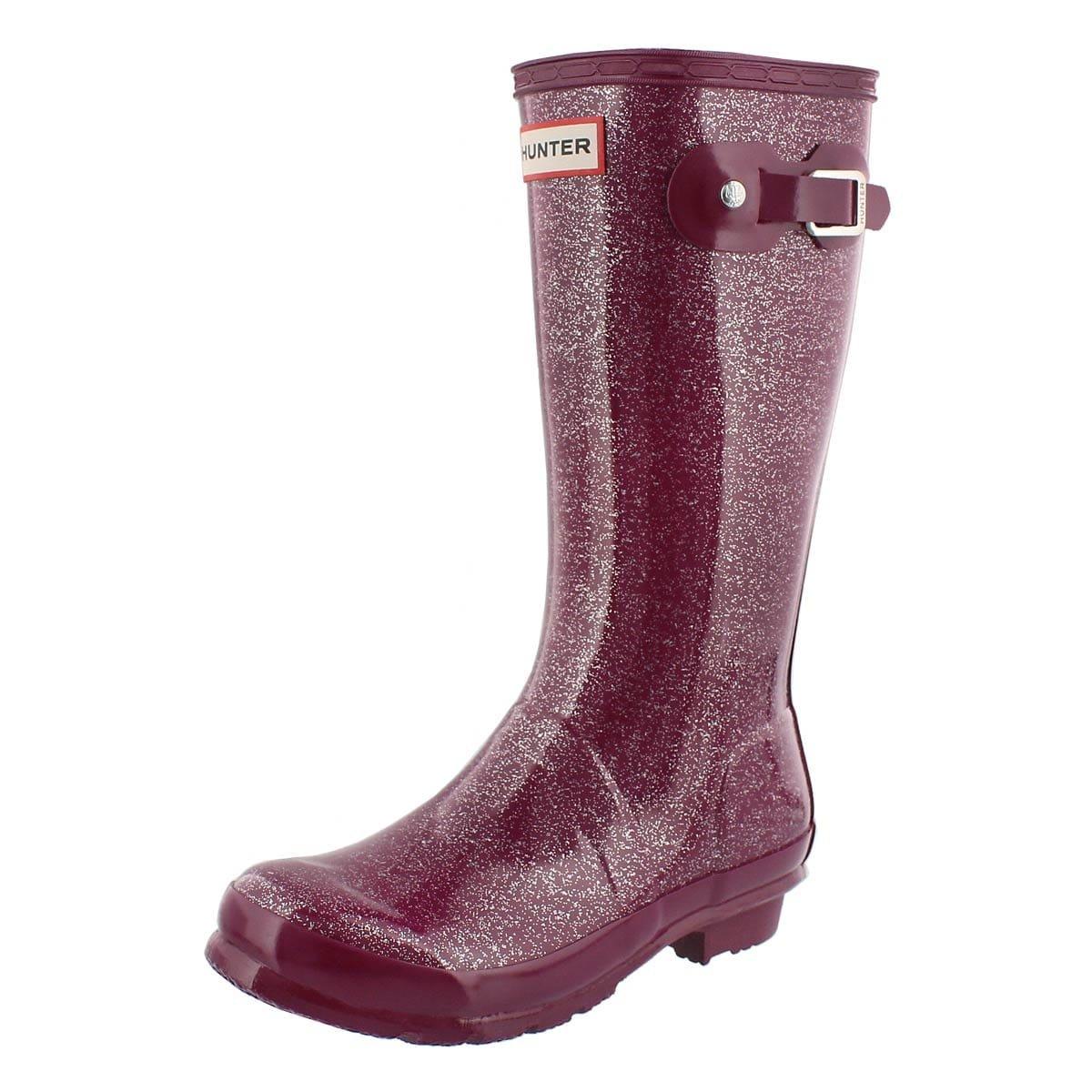 Hunter Boots Girls Original Kids Glitter Rain Boot Violet 5 M Us