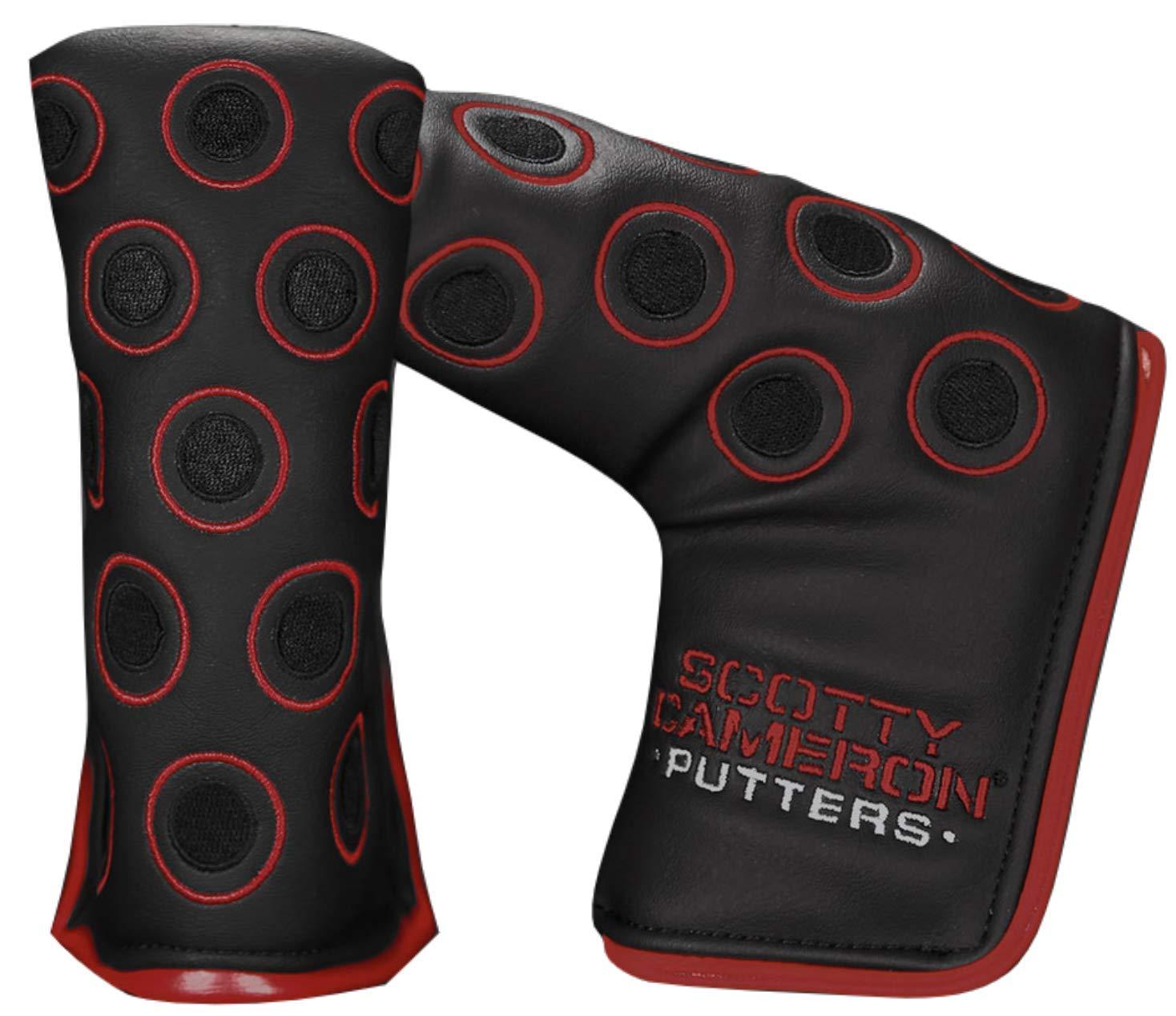 Scotty Cameron 7ポイントクラウン マットブラック レッド 限定版 パターヘッドカバー B07HVK2H2C