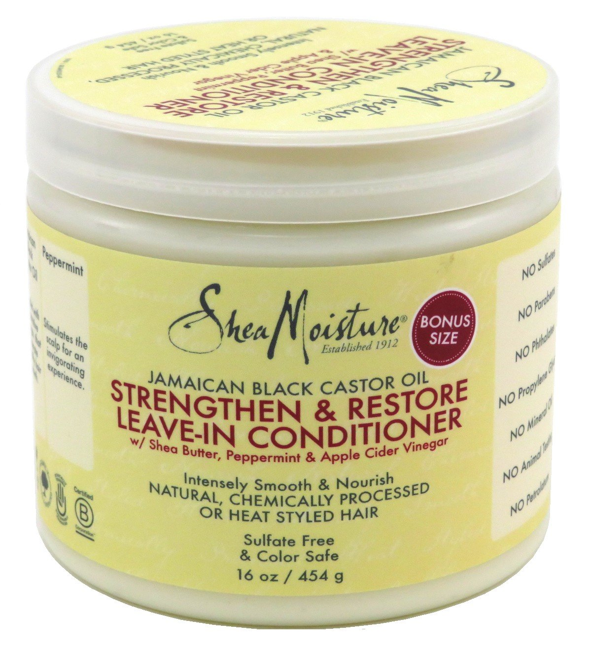 Shea Moisture Strengthen & Restore Leave-In Conditioner 16 oz (Pack of 3)