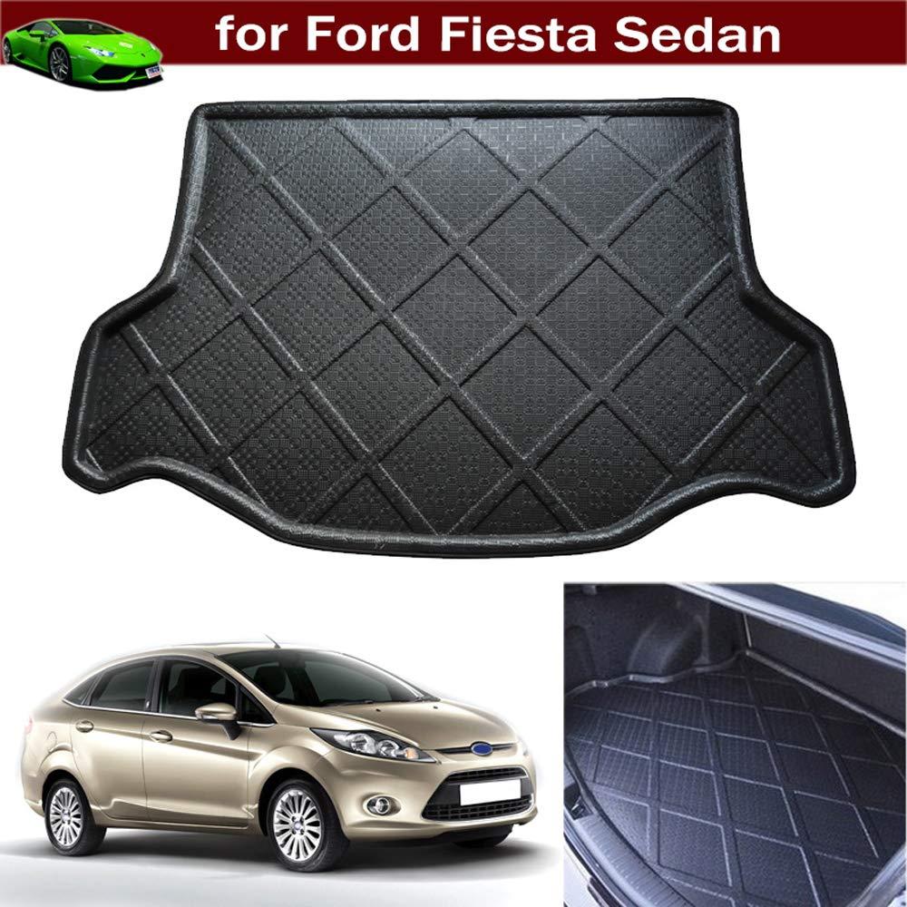 Car Boot Pad Liner Cargo Mat Tray Trunk Floor Cargo Liner for Ford Fiesta Sedan 2009 2010 2011 2012 2013 2014 2015 2016 2017 2018 2019 2020