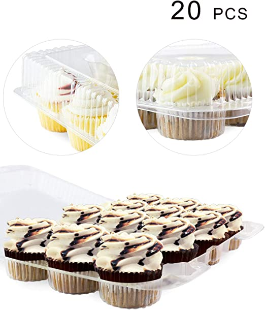 Paquete de 20 cajas para tartas, 12 mini contenedores para ...