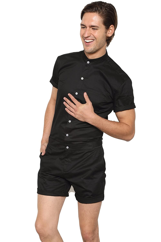 f71aeca84cf1 RomperJack Mens Romper by Stylish Male Jumpsuit w Short Sleeve Short Pants  at Amazon Men s Clothing store