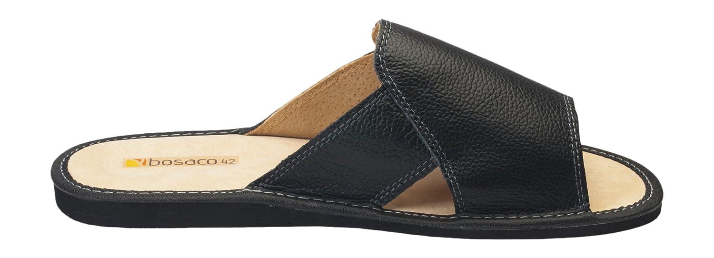 Hommes confort luxe chaussons pantoufles Cuir veritable