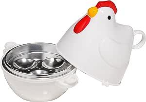 Premier Housewares - Hervidor de Huevos para microondas, diseño de gallina - Capacidad 3 Huevos