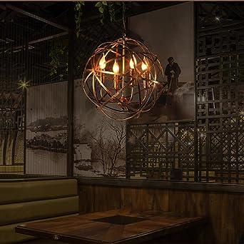 Retro Industrie Stil Pendelleuchte Kreativ Globus Entwurf Eisen Runden  Bronze Lampenschirm Hängelampe, Küche Esszimmer Bar