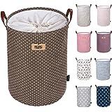 """DOKEHOM DKA0822BNL - Cesta redonda de almacenamiento de lavandería, Algodón, Marrón, 19""""/L"""