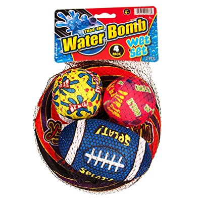 Toss'Em Water Bomb Wet Set 4 Pcs.: Toys & Games
