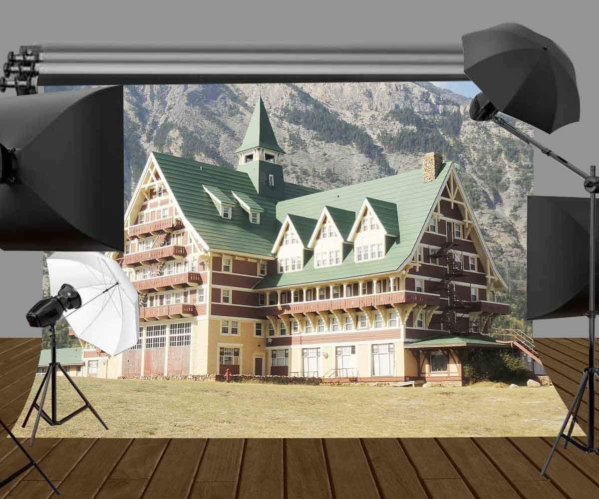 CdHBH 7x5ft Luxury Villa Backdrop Mountain Foot Luxury Villa Photography Backdrops Photo Studio Background Props LYXC123