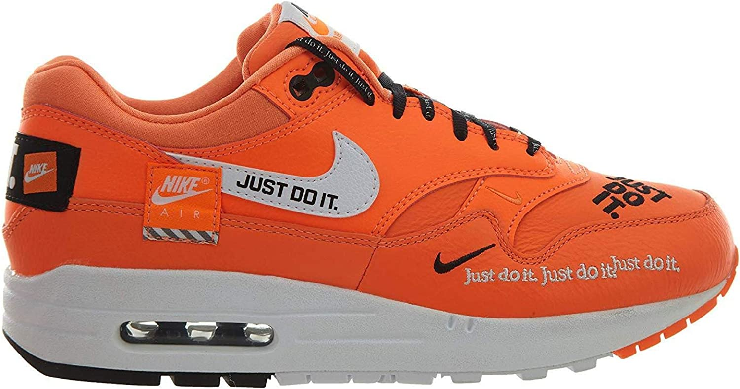 Nike Air Max1 Lx Just Do It White Orange Match The Patch Running Shoes Big Kids 917691 100 Latest