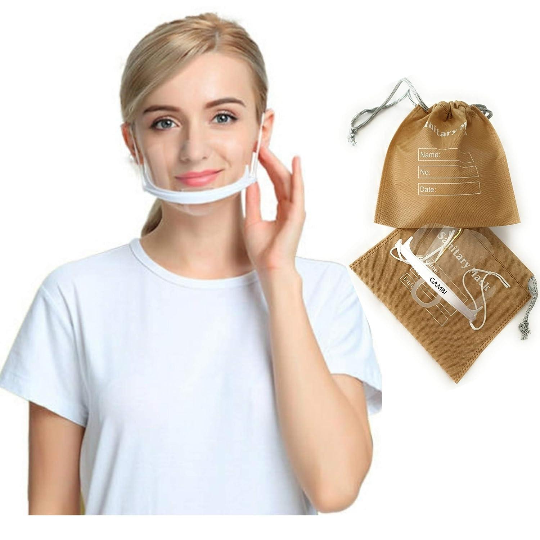 Visera Protector Facial Plastico Transparente 1 Unidad Máscarilla Boca Nariz Visera Plastico Antiniebla Mascara Escudo Transparente Protector Antisalpicaduras (1)