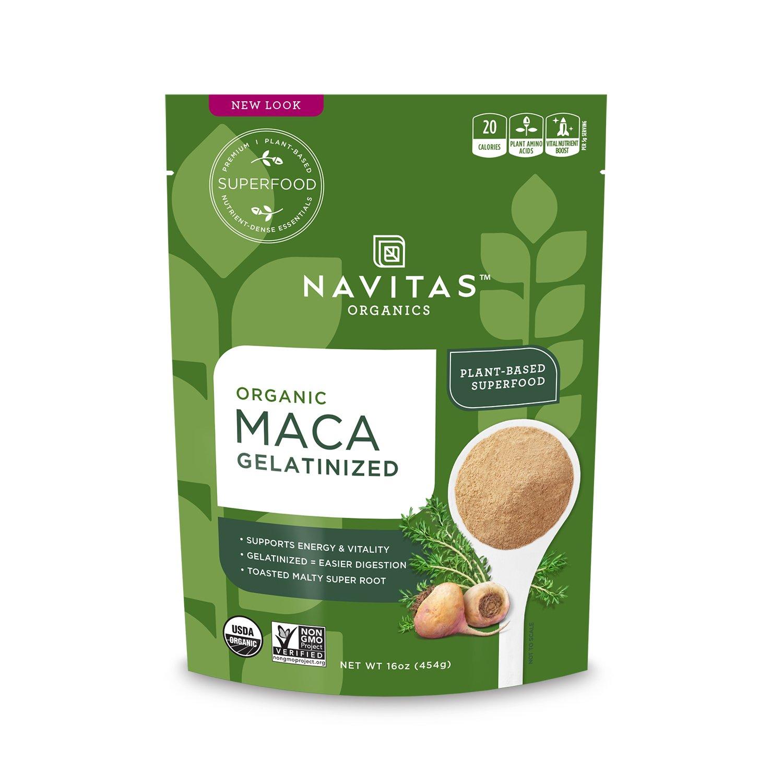 Navitas Organics Maca Gelatinized Powder, 16 oz. Bag — Organic, Non-GMO, Gluten-Free