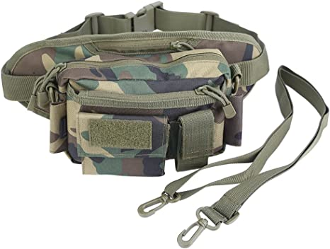 OLEADER Oleander Tactical Cintura Pack Nylon Pesca Trastos Fanny Bolsa Hombro Carry Hip Pack Correa Gear Bag para la Caza Escalada Senderismo Camping: Amazon.es: Deportes y aire libre