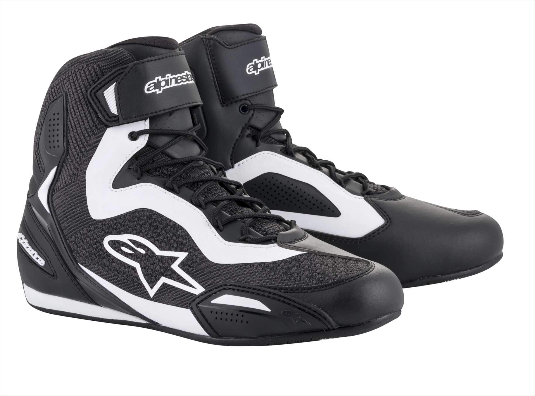 Alpinestars Faster-3 Rideknit Shoes (10.5, 12-Black/White) by Alpinestars