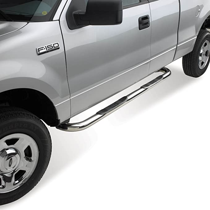 Westin 23-3150 E-Series Polished 304 3 Stainless Steel Round Step Bar