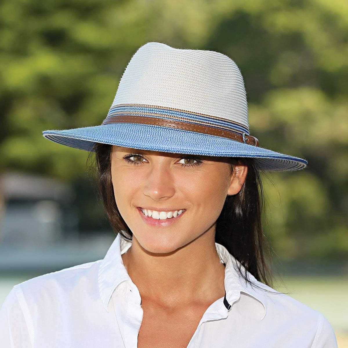 Packable UPF 50+ Wallaroo Hat Company Women/'s Kristy Fedora Designed in Australia Lightweight Adjustable