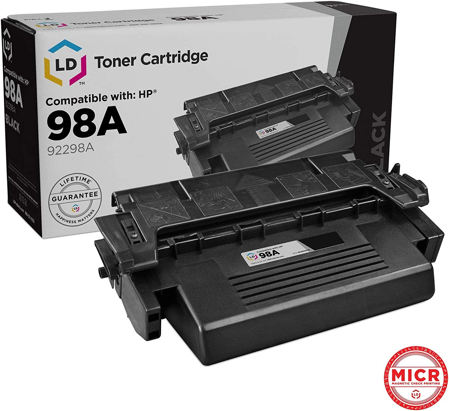 LD Remanufactured MICR Toner Cartridge Replacement for HP 98A 92298A (Black)