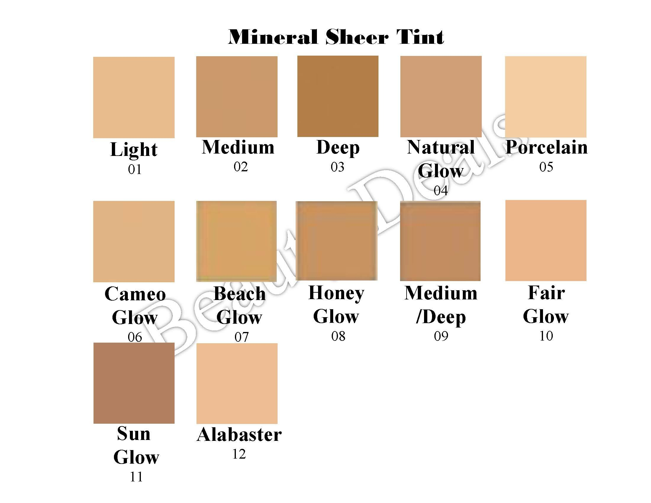 Beauty Deals Mineral Sheer Tint SPF 20 Tinted Moisturizer (Cameo Glow)