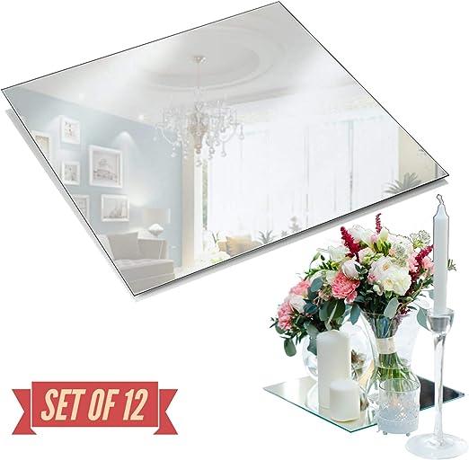 Espejo de Plata Cristal Cuadrados De Vidrio Marco De Foto De Decoración Del Hogar Boda Regalo de imagen