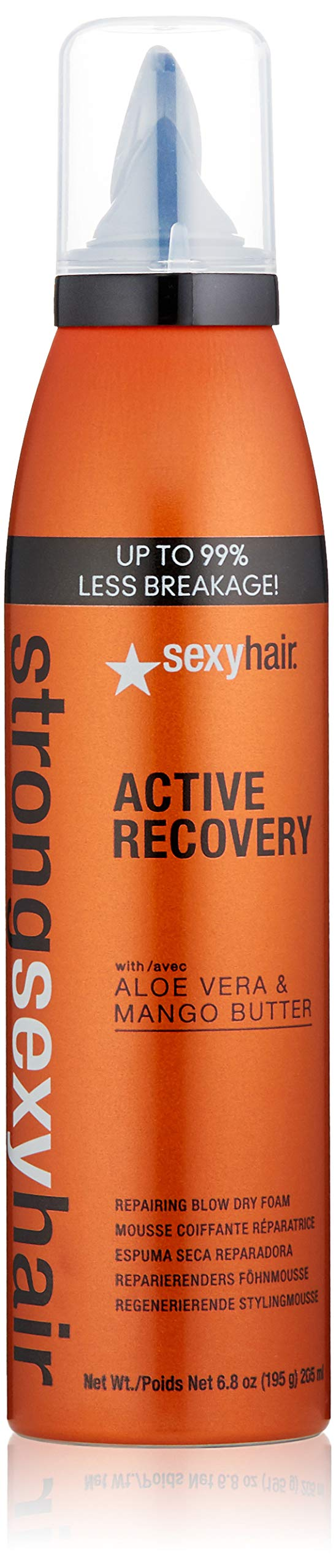 SEXYHAIR Strong Active Recovery Repairing Blow Dry Foam, 6.8 Fl Oz by SEXYHAIR