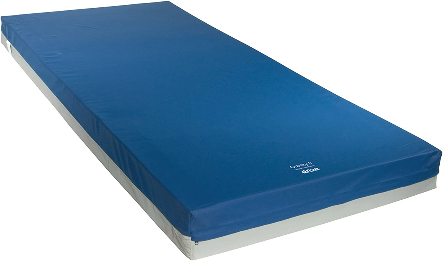 Drive Medical Gravity 8 Long Term Care Pressure Redistribution Mattress, No Cut Out, Medium