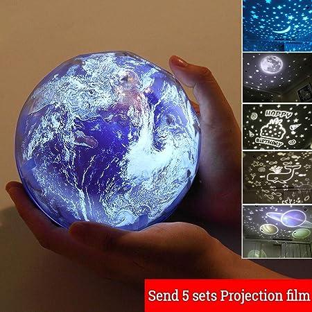 ☻XK Ocean Wave Starry Sky Aurora LED Proyector de luz Nocturna ...