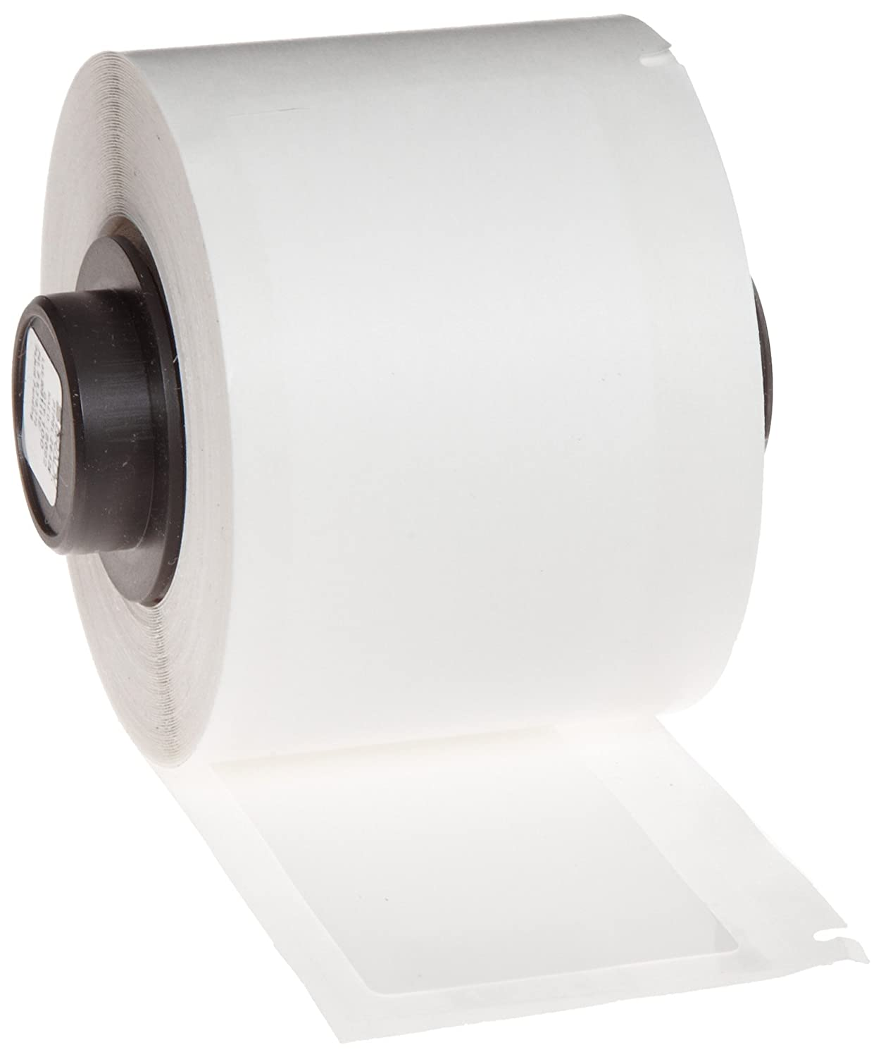 Brady PTL-39-422 TLS 2200 and TLS PC Link 0.375\' Width x 0.6\' Height, B-422 Permanent Polyester, Gloss Finish White Label (750 per Roll)